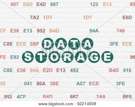 Data concept: Data Storage on wall background