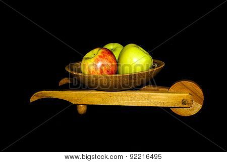 Fruits in a wheelbarrow