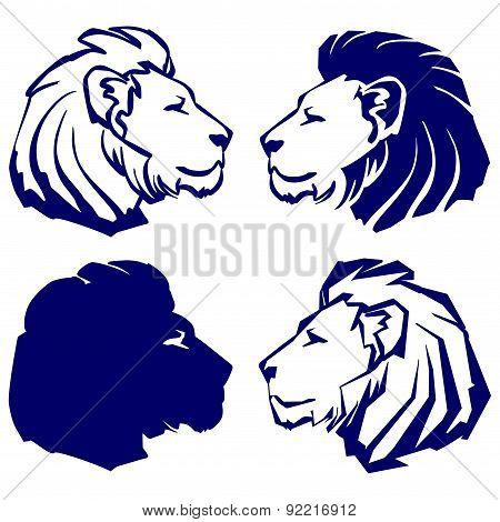 lion icon sketch cartoon vector illustration