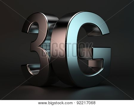 3G Cellular High Speed Data Connection Concept Logo