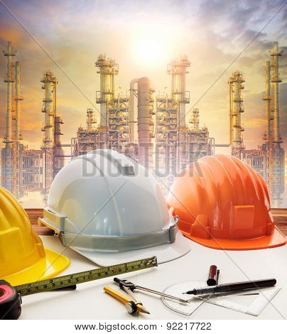 Engineer Working Table Plan, Home Model And Writing Tool Equipment Against Building Construction Cra