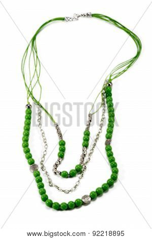 Beautiful Necklace Handmade Green Color