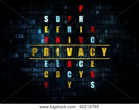 Security concept: word Privacy in solving Crossword Puzzle
