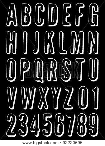 Distressed Alphabet