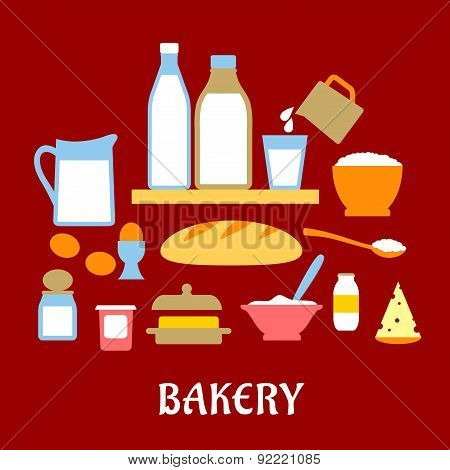Bakery concept with dough ingredients