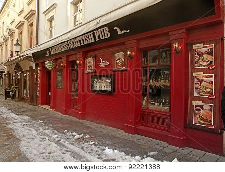 Red Vintage Facade Of