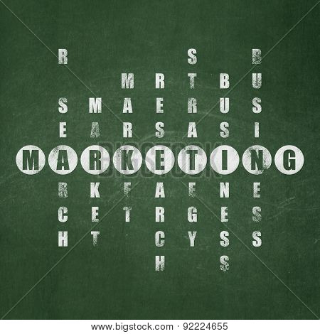 Marketing concept: word Marketing in solving Crossword Puzzle