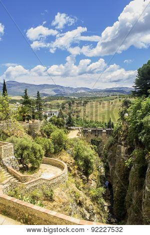 Ronda, View Over Puente Viejo, Old Bridge. Spain