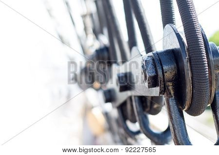 Rigging Detail On A Sailing Vessel