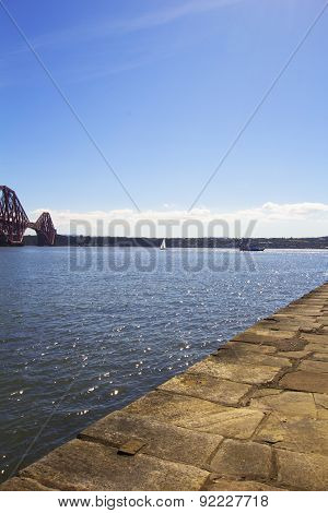 Forth Rail Bridge From South Queensferry, Scotland