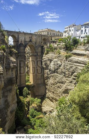 Ronda Panoramic View Over Puente Nuevo, Spain.