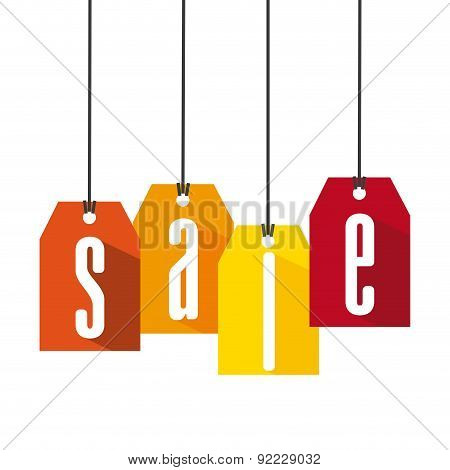 store ad over white background vector illustration