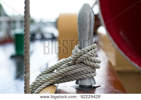 Rope On An Old Tall Ship