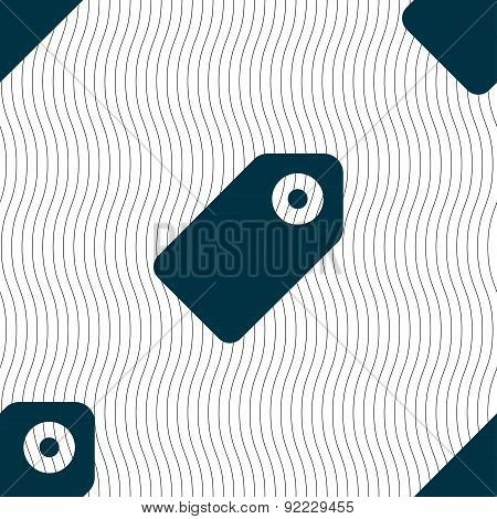 Special Offer Label Icon Sign. Seamless Pattern With Geometric Texture. Vector