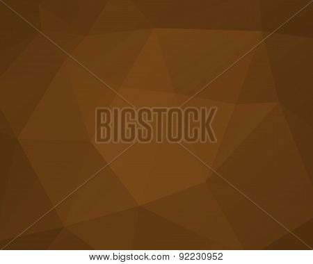 Abstract Brown Triangle Background, Low Poly Design. Polygonal Style. For Web And Mobile App