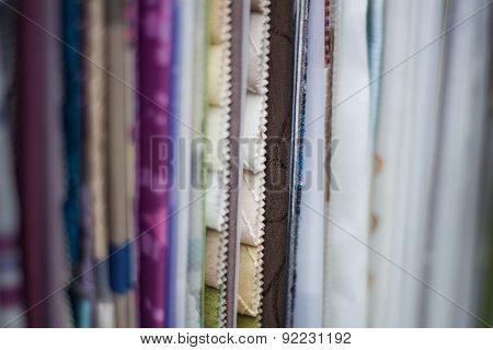 Fabric Samples In A Curtain Shop