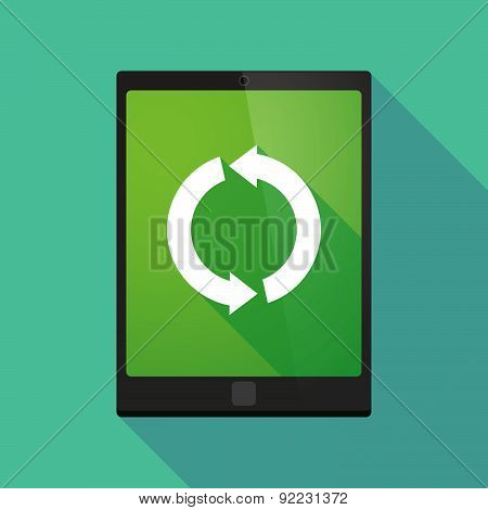 Tablet Pc Icon With A Recycle Sign