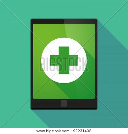 Tablet Pc Icon With A Pharmacy Sign