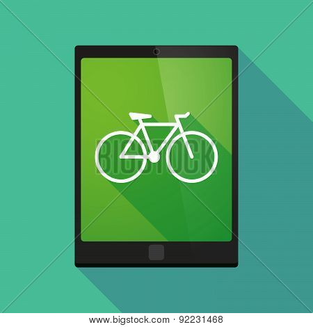 Tablet Pc Icon With A Bicycle