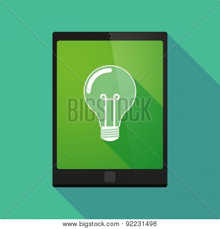 Tablet Pc Icon With A Light Bulb