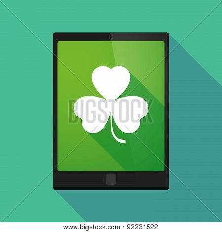 Tablet Pc Icon With A clover