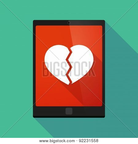 Tablet Pc Icon With A Heart
