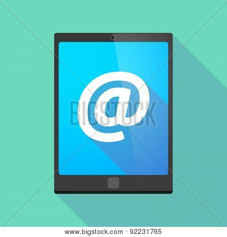 Tablet Pc Icon With An At Sign