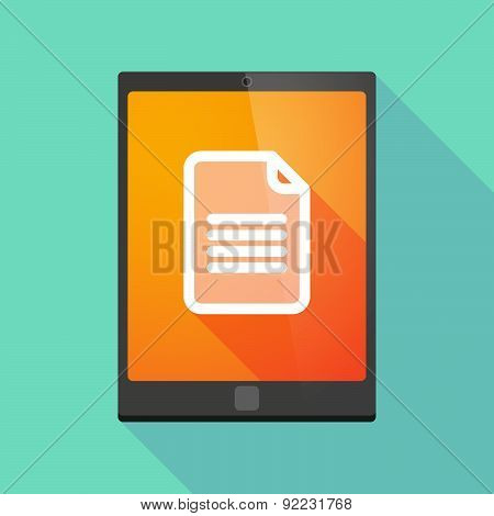 Tablet Pc Icon With A Document