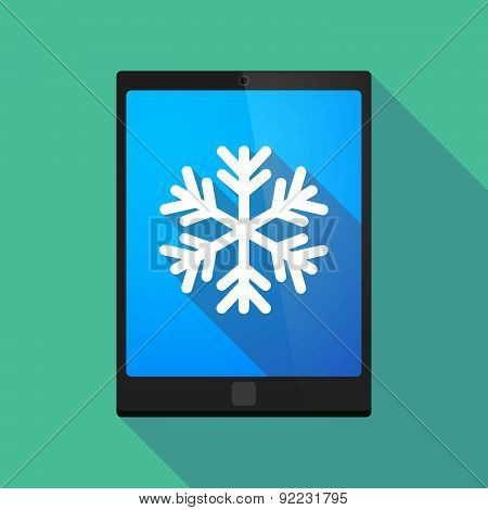 Tablet Pc Icon With A Snow Flake