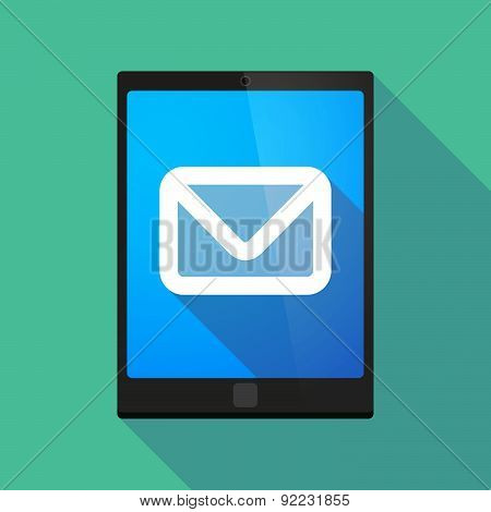 Tablet Pc Icon With An Envelope