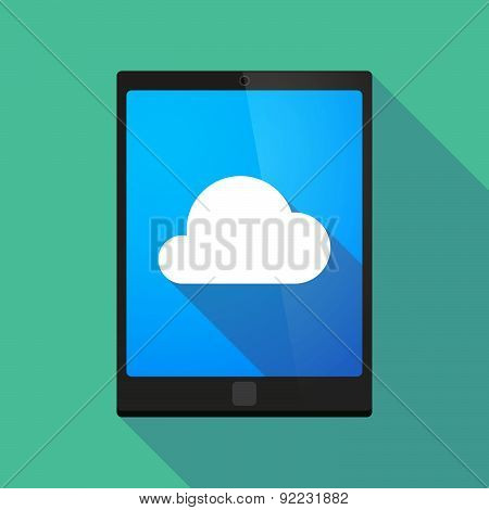 Tablet Pc Icon With A Cloud