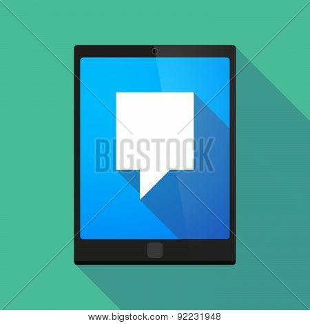 Tablet Pc Icon With A Tooltip