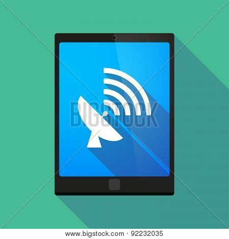 Tablet Pc Icon With A Satellite Dish