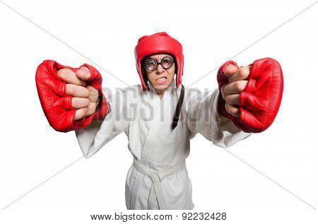 Man boxer isolated on white