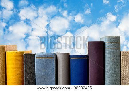 Books With Blue Sky