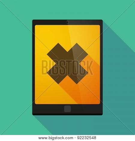 Tablet Pc Icon With An Irritating Substance Sign