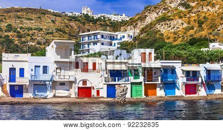 colors of Greece- Traditional village Klima on Milos island