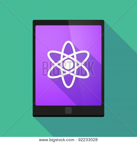 Tablet Pc Icon With An Atom