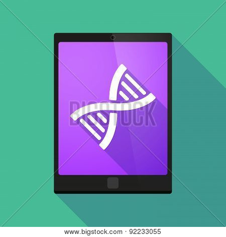 Tablet Pc Icon With A Dna Sign