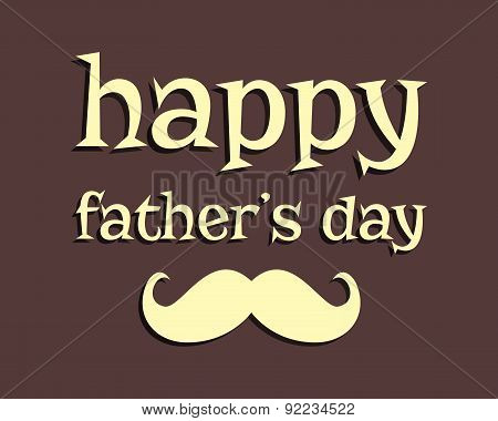 Happy Father's day greeting template background. mustache. Unusual funny concept. Best daddy ever. v