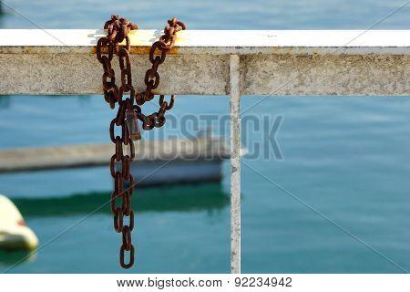 Chain and railing