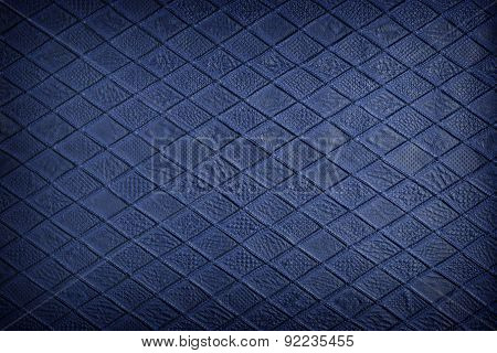 Blue Leather, Texture