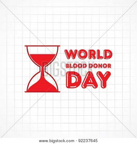 Creative World Blood Donor Day Greeting stock vector
