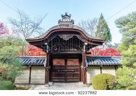 Entrance Of Japan Temple In Kyoto