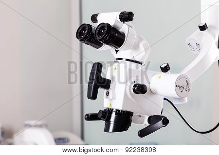 The Image Of The Professional Medical Laboratory Microscope