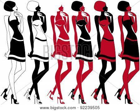 Slim Model In Six Embodiments