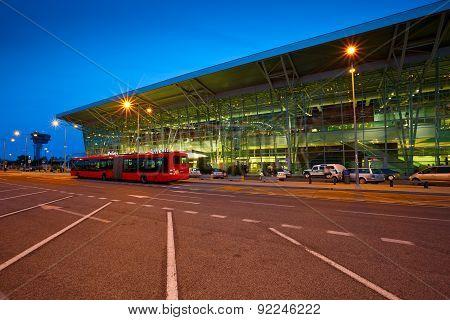 Bratislava airport.