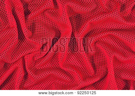 Red Crumpled Nonwoven Fabric Background