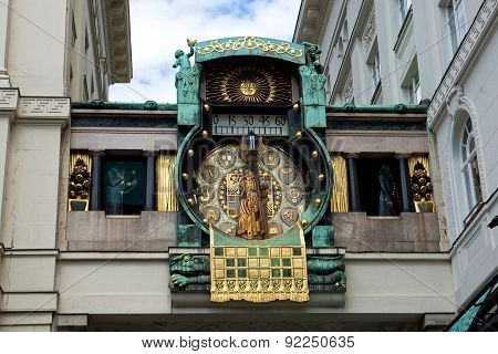Figural clock Anker in Vienna