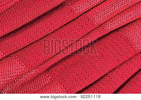 Red Crumpled Stockinet Background